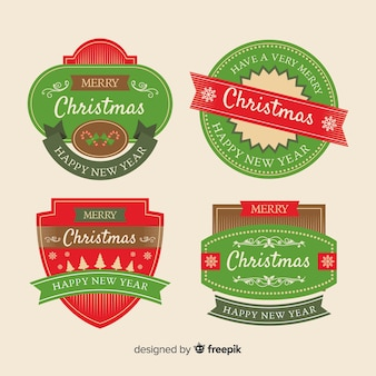 Коллекция старинных рождественских значков