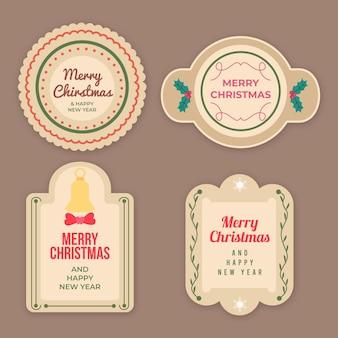 Vintage christmas badge collection