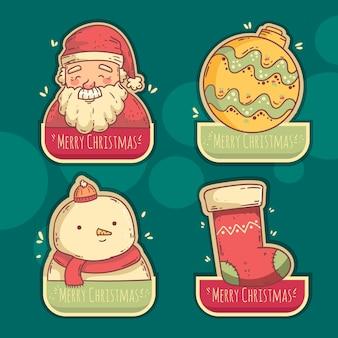 Collezione vintage di badge natalizi