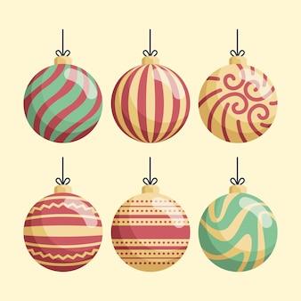 ヴィンテージのクリスマスボールの飾り