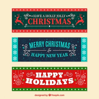 Vintage christmas banners