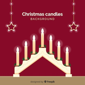 Урожай рождественские свечи фона