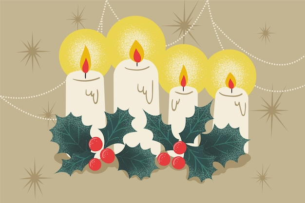 Vintage christmas candle background