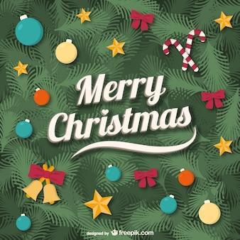 ヴィンテージクリスマスカードベクトル