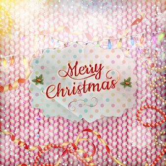 빈티지 크리스마스 카드.