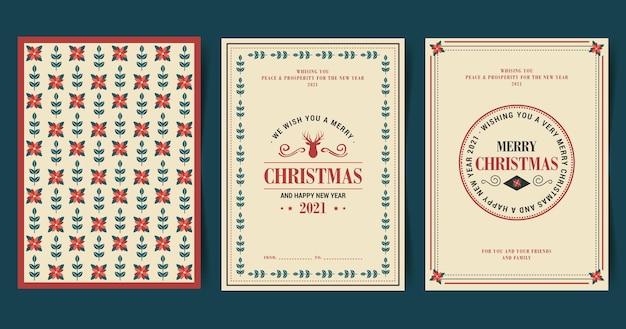 Collezione di cartoline di natale vintage
