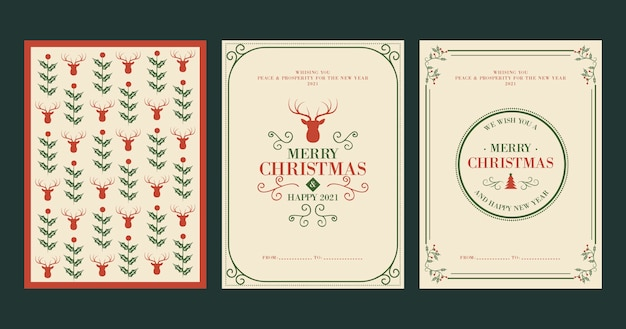 Vintage christmas cards template