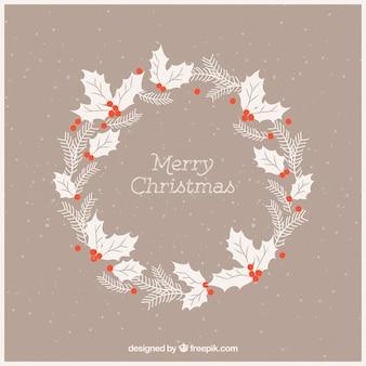 Винтаж рождественский декоративный цветочный венок