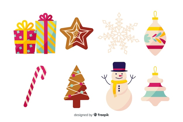 Vintage christmas element collection