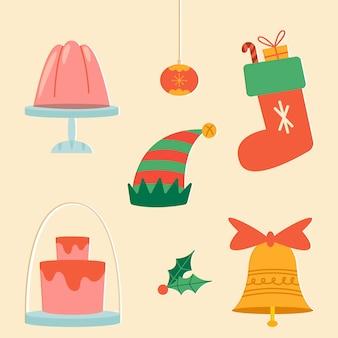 Коллекция старинных рождественских элементов