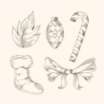 ヴィンテージクリスマス要素コレクション