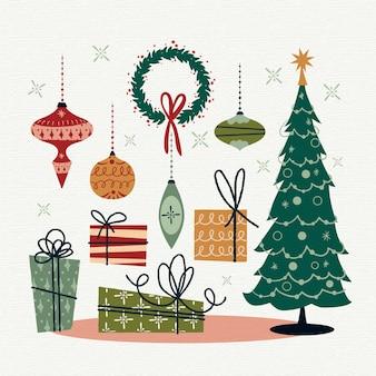 ビンテージクリスマス要素コレクション