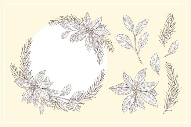 ヴィンテージクリスマスフラワー&リースコレクション