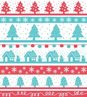 ヴィンテージクリスマスのニットの背景