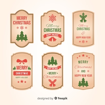 Vintage christmas label collection