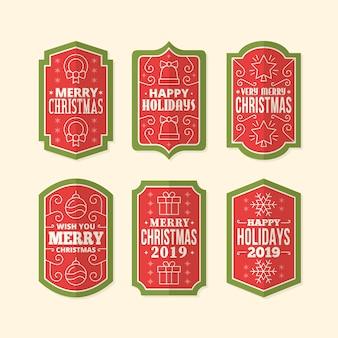 ビンテージクリスマスラベルパック