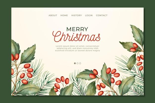 Pagina di destinazione natalizia vintage