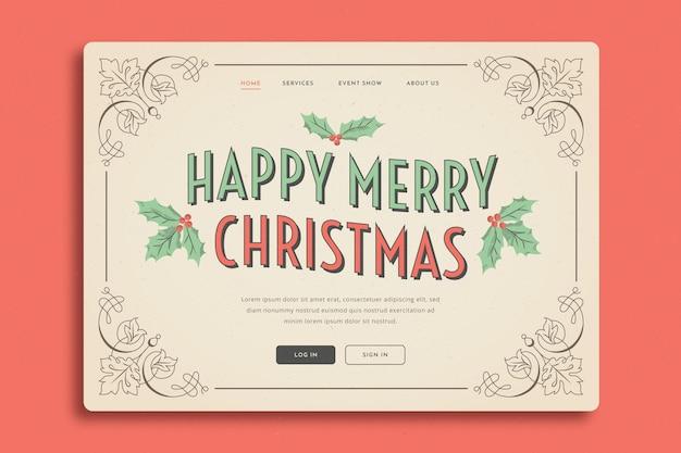 Винтажная рождественская целевая страница