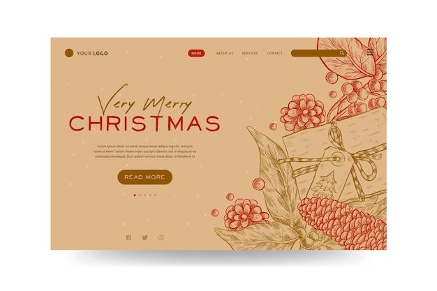 ヴィンテージクリスマスのランディングページ