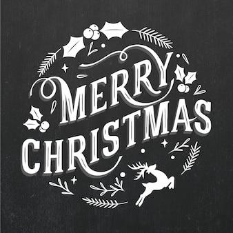 ヴィンテージのクリスマスレタリング