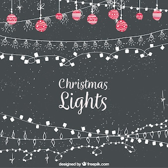 Vintage christmas lights background