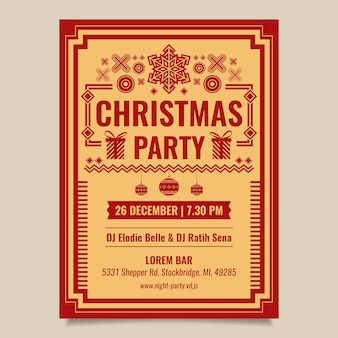 Vintage christmas party flyer