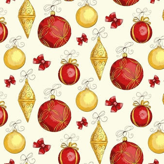 Vintage christmas pattern background