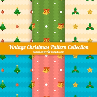 Vintage christmas pattern collection