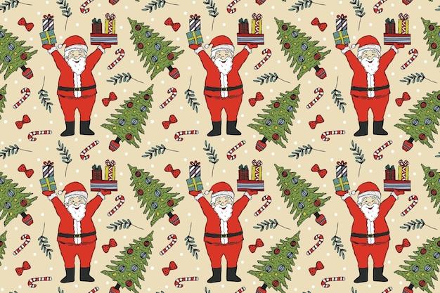 Vintage christmas pattern