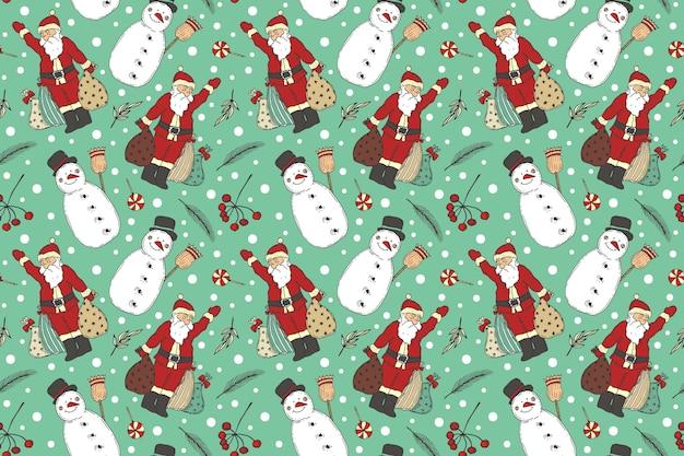 ヴィンテージのクリスマスパターン