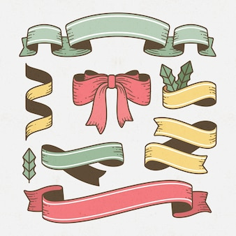 Vintage christmas ribbon collection