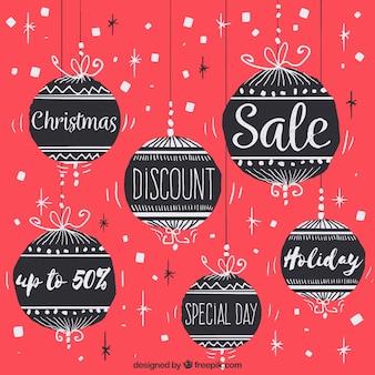 Урожай фон рождества продажи