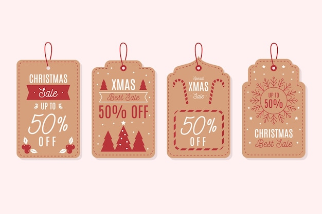 Vintage christmas sale tag collection