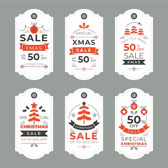 ヴィンテージクリスマスセールタグコレクション