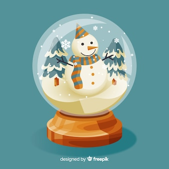 Vintage christmas snowball globe