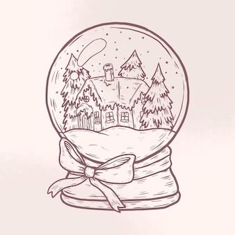 Винтажный рождественский снежный шар