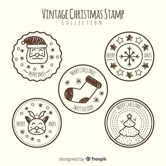 빈티지 크리스마스 스탬프 컬렉션