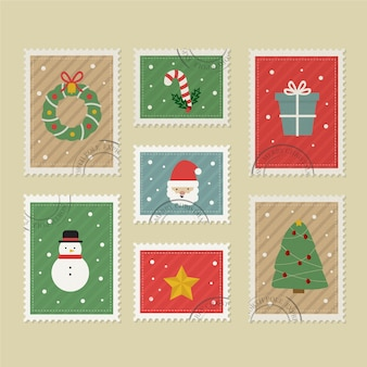 Коллекция старинных рождественских марок
