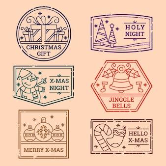 빈티지 크리스마스 우표 수집