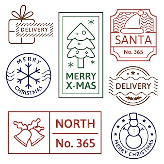 Collezione di francobolli natalizi vintage
