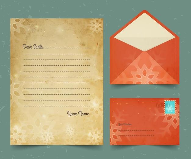 Винтажный рождественский шаблон канцелярских товаров