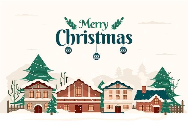 Vintage christmas town