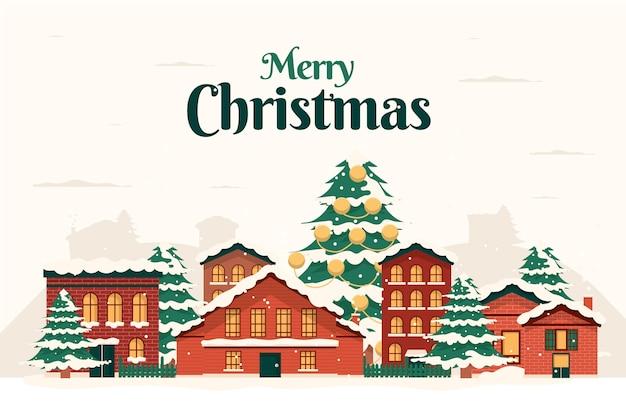 ヴィンテージのクリスマスタウン