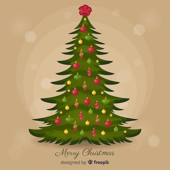 Vintage christmas tree background