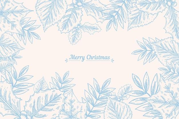 ヴィンテージのクリスマスツリーの枝の背景
