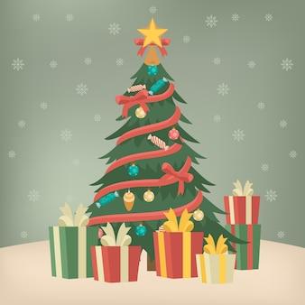 Vintage christmas tree concept