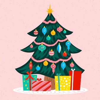 ヴィンテージのクリスマスツリーのコンセプト