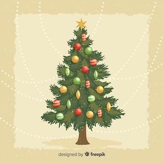 Vintage christmas tree illustration