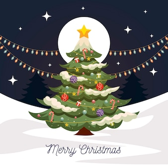 Старинная рождественская елка