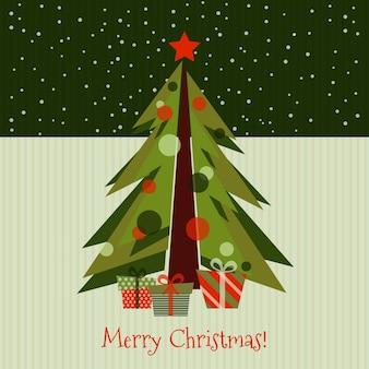 빈티지 크리스마스 트리